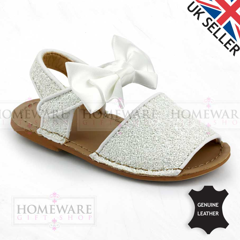 GIRLS SPANISH BOW SANDALS LEATHER